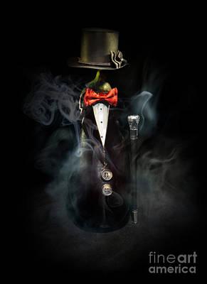 Hand Made Photograph - Black Suit by Jaroslaw Blaminsky