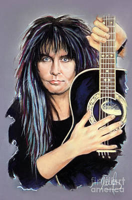 Wasp Mixed Media - Blackie Lawless by Melanie D