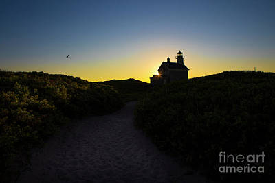 Seagrass Photograph - Block Island North Lighthouse by Diane Diederich