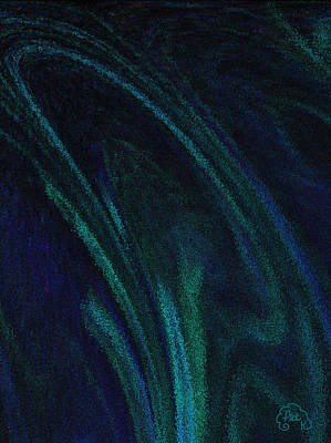 Digital Digital Art - Blue Blur by Patricia Kay