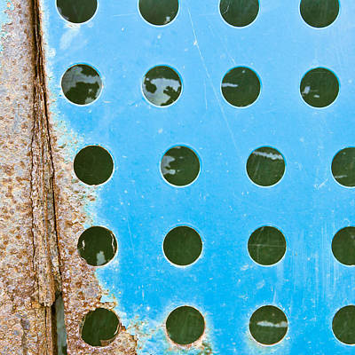 Perforated Photograph - Blue Metal by Tom Gowanlock
