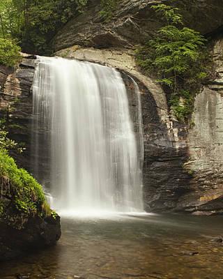 Glass Photograph - Blue Ridge Waterfall by Andrew Soundarajan