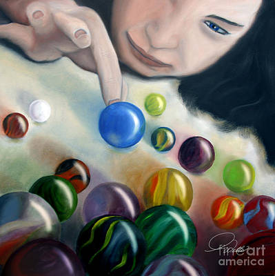 Painting - The Blue Shooter by A Wells Artworks