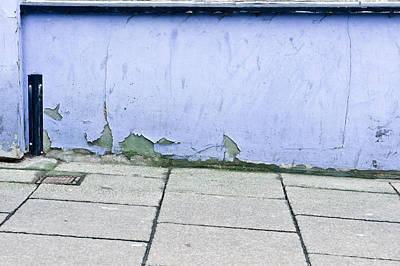 Blue Wall Print by Tom Gowanlock