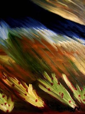 Blue Wheatie Print by Bamhs Blair