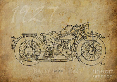 Bike Drawing - Bmw R47 1927 by Pablo Franchi