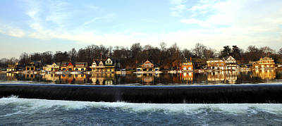 Boathouse Row Photograph - Boathouse Row by Andrew Dinh
