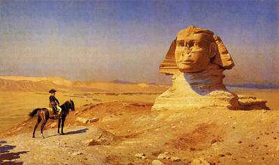 Skylines Painting - Bonaparte Before The Sphinx by Celestial Images