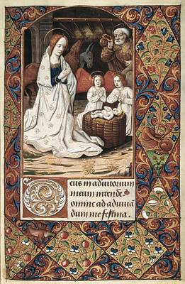 Book Of Hours For Charles V. 16th C Print by Everett