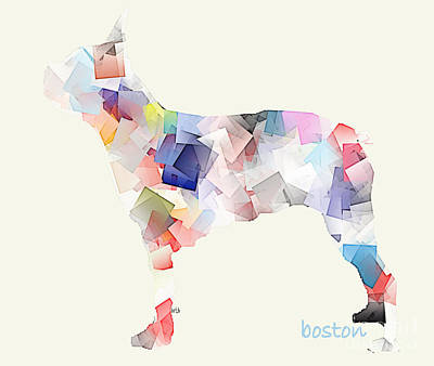 Bulldog Art Digital Art - Boston Bulldog  by Bri B