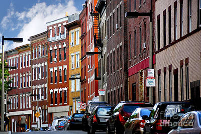 Brick Buildings Photograph - Boston Street by Elena Elisseeva