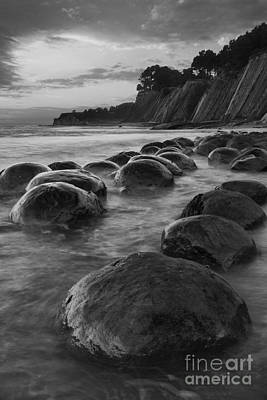 Bowling Ball Beach At Sunrise Print by Keith Kapple