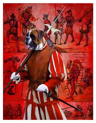 Boxer Painting - Boxer Art Canvas Print by Sandra Sij