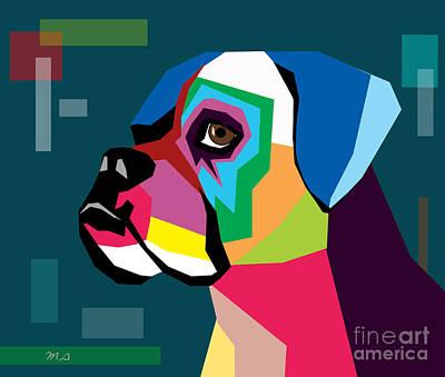 Surrealism Digital Art - Boxer  by Mark Ashkenazi