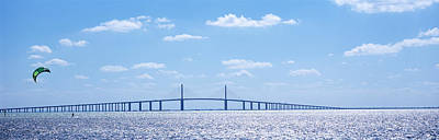 Bridge Across A Bay, Sunshine Skyway Print by Panoramic Images