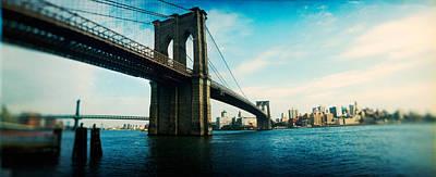 Bridge Across A River, Brooklyn Bridge Print by Panoramic Images