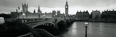 White River Scene Photograph - Bridge Across A River, Westminster by Panoramic Images