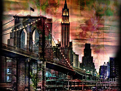 Brooklyn Bridge Print by Christine Mayfield