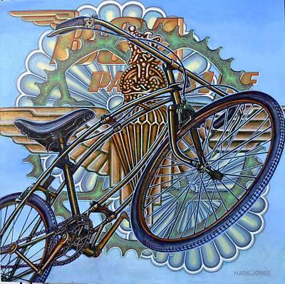 Bsa Parabike Print by Mark Howard Jones