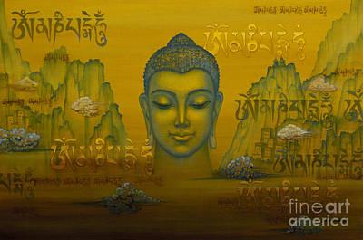 Tibetan Buddhism Painting - Buddha. The Message. by Yuliya Glavnaya