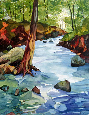 Buffalo River Painting - Buffalo River by Steve Brumbaugh
