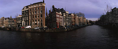 Buildings Along A Canal, Amsterdam Print by Panoramic Images