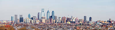 Philadelphia Skyline Photograph - Buildings In A City, Comcast Center by Panoramic Images