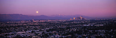 Romantic Location Photograph - Buildings In A City, Hollywood, San by Panoramic Images