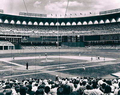 Baseball. Philadelphia Phillies Photograph - Busch Stadium - St Louis 1966 by Mountain Dreams