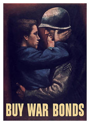 Wife Mixed Media - Buy War Bonds by War Is Hell Store