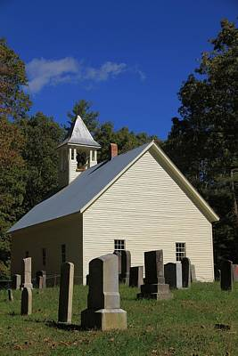Cades Cove Primitive Baptist Church Print by Dan Sproul