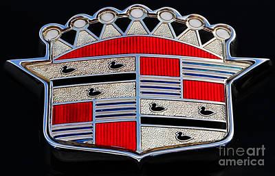 Cadillac Emblem  Print by Lee Dos Santos