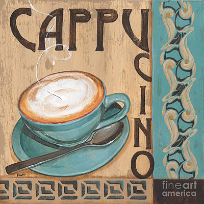 Coffee Painting - Cafe Nouveau 1 by Debbie DeWitt