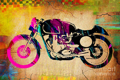 Motorcycle Mixed Media - Cafe Racer by Marvin Blaine