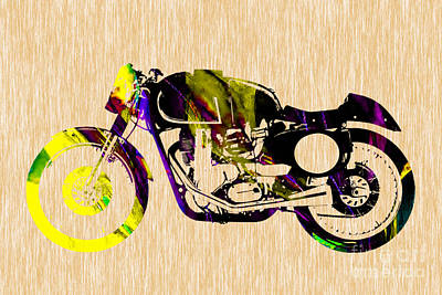 Cafe Racer Painting Print by Marvin Blaine