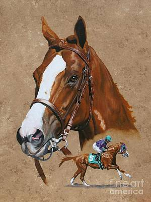 Horse Racing Painting - California Chrome by Pat DeLong