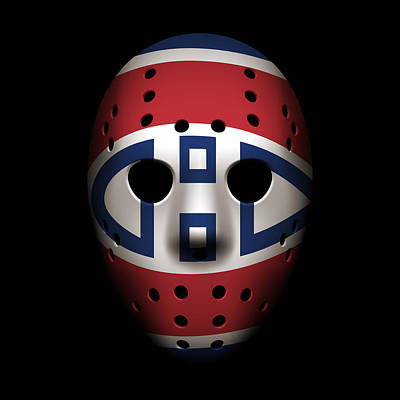 Hockey Photograph - Canadiens Goalie Mask by Joe Hamilton