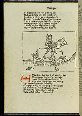 Famous Book Photograph - Canterbury Tales by British Library