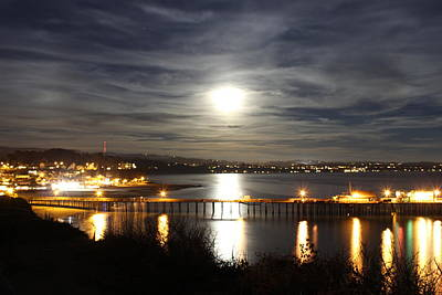 Santa Cruz Pier Photograph - Capitola Moonscape by Deana Glenz