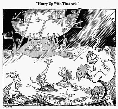 Cartoon: World War II Print by Granger