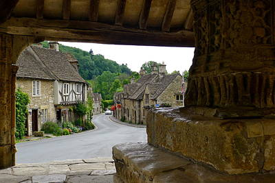 Castle Combe Picture Framed Print by Denise Mazzocco