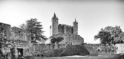 Tower Photograph - Castle Keep Medieval Tenaille by Jose Elias - Sofia Pereira