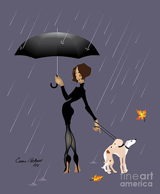 Caught In The Rain Print by Cesar Pacheco