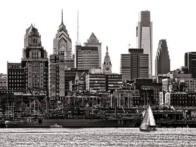 Phillies Art Photograph - Center City Philadelphia by Olivier Le Queinec