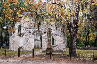 Chapel Of Ease Photograph - Chapel Of Ease Ruins St. Helena Island South Carolina by Dawna  Moore Photography