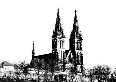 Prague Mixed Media - Chapter Church Of St Peter And Paul by Michal Boubin