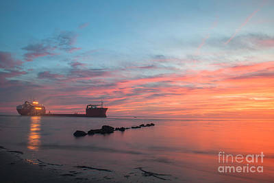 Charleston Harbor Sunset Print by Dale Powell