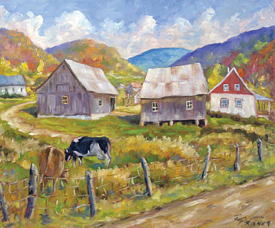 Finding Fine Art Painting - Charlevoix North by Richard T Pranke