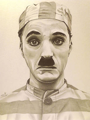 Austin Drawing - Vintage Charlie Chaplin by Fred Larucci