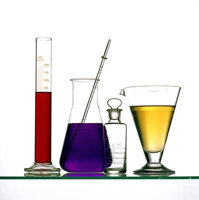 Glasses Photograph - Chemistry by Bernard Jaubert